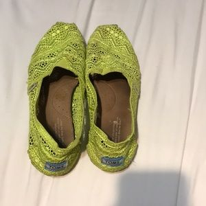 Lime Green Toms sandals